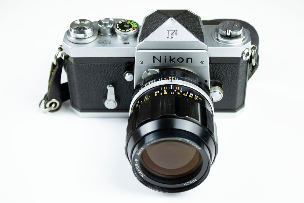 Nikon F with a Prism Meter Head and a Nikkor 50mm lens